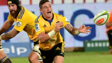 PRETORIA, SOUTH AFRICA - FEBRUARY 20: TJ Perenara of the Hurricanes in action during the Super Rugby match between Vodacom Bulls and Hurricanes at Loftus Versfeld on February 20, 2015 in Pretoria, South Africa. (Photo by Lee Warren/Gallo Images/Getty Images)