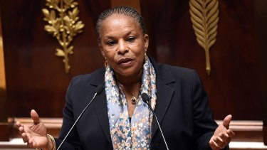 French Justice Minister Christiane Taubira.