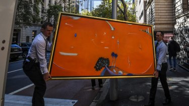 Orange Lavender Bay is removed from court by police.