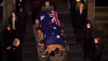 Alec Campbell's state funeral in Hobart.