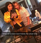 Chyna with former enemy and now future sister-in-law, Kylie Jenner.