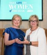 Professor Gillian Triggs and 2014 Woman of the Year winner, Rosie Batty.