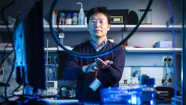 """Jun Chen suggests being able to convert body temperature to electricity means we could """"power"""" tech with fitness."""