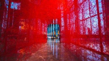 <i>First House</i> by Chiharu Shiota.