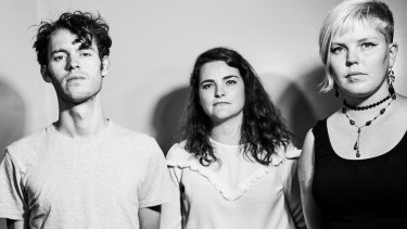 Nick Brown, Shauna Boyle and Jenny McKechnie of Cable Ties, who have have recently signed to leading independent label Poison City.