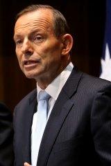 Isolated: Prime Minister Tony Abbott.