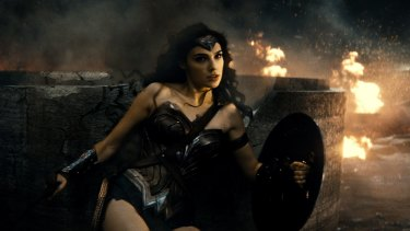 Gal Gadot as Wonder Woman in <i>Batman v Superman: Dawn of Justice</i>.