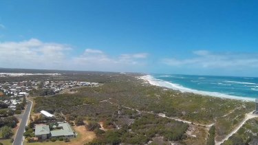 The site proposed for the Lancelin Tourist Park, containing threatened botanical species.
