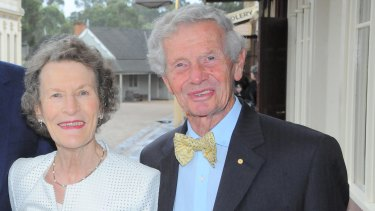 Weston Bate, local historian, with his wife Janice at Sovereign Hill.
