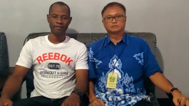 Jamiu Owolabi Abashin, aka Raheem Agbaje Salami, has struck up a friendship with the Bali nine duo.