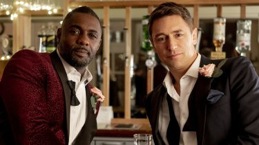 Idris Elba with J. J. Feild in Turn Up Charlie.