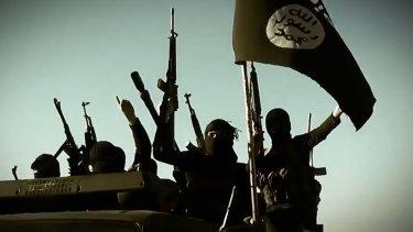 Propaganda: An image taken from an Islamic State video.