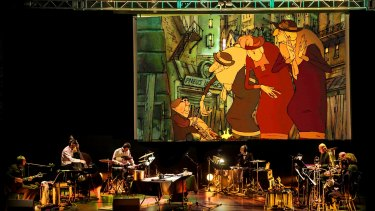 Benoit Charest and his orchestra perform his score to the film <i>The Triplets of Belleville</i>.