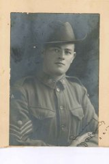 Mr Laird's grandfather, Fred Laird, in 1916.