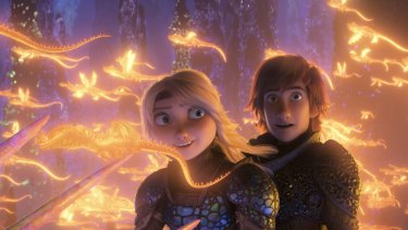 A scene from How to Train Your Dragon: The Hidden World.