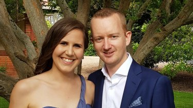 SMS Broadcast's Lee Gaywood, with his fiance Gemma Cooper. SMS Broadcast organised the 'yes' campaign SMS.