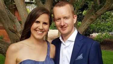 SMS Broadcast's Lee Gaywood, with his fiance Gemma Cooper.