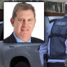 Police raided the home of Department of Communities assistant director general Paul Whyte, inset, on Thursday last week.