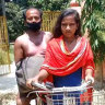 Jyoti Kumari, 15, cycled 1100 kilometres from New Delhi to her family's village, transporting her father, Mohan Paswan, a migrant laborer, on the back.