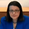Health Minister Jenny Mikakos giving evidence at the hotel quarantine inquiry on Thursday.