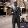 Perth artist group replaces plaques of historical CBD statues in bid to 'rewrite history'