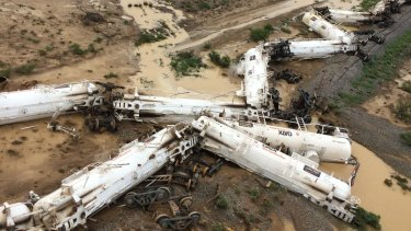 The derailed train was carrying 819,000 litres of sulphuric acid.