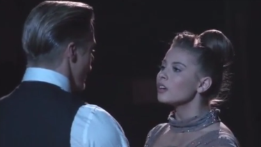 Bindi Irwin finishes her Viennese waltz.