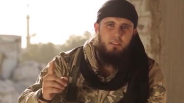 An image from the propaganda video featuring Australian Islamic State fighter 'Abu Adam'.