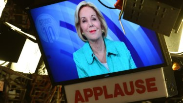 Now: Ita Buttrose at the <i>Channel 10</i> studios in Sydney.