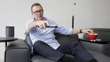 Stephen Lacey test-drives King Furniture's King Cloud II sofa.
