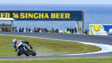 Wild ride: Jack Miller is looking to make his mark at his home event, the Australian MotoGP.