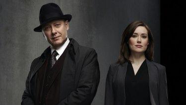 James Spader and Megan Boone in <i>The Blacklist</i>.