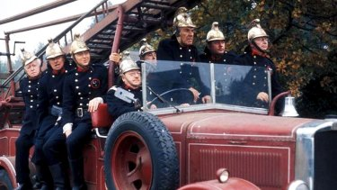 The troops of <i>Dad's Army</i> took on the job of firemen in the episode Brain Versus Brawn.