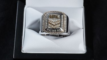 Big prize: The NRL grand final ring.