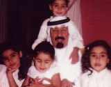 King Abdullah, pictured with his children when they were much younger.
