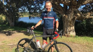 Mr Berveling was cycling 320km southwest of Perth when a truck tried to overtake him.