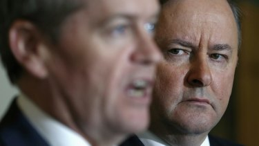 "Labor frontbencher Anthony Albanese, pictured with leader Bill Shorten, says he has ""real concerns"" about the handling of the party's asylum seeker policy."