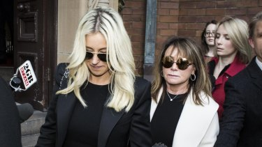 Roxy Jacenko leaves the Supreme Court after the guilty verdict was handed down.