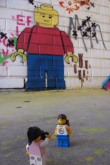 The Lego Travellers checked out some street art while in Perth.