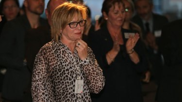 Rosie Batty just after her award was announced.
