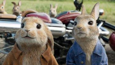 Bunny Business: Benjamin Bunny, left, and Peter Rabbit.
