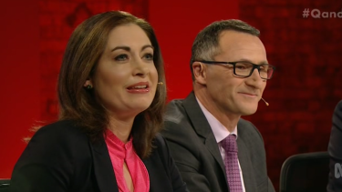 'You do not have the capacity to become the prime minister' ... Labor's Terri Butler (left) did not hold back in her attack on Greens leader Richard Di Natale.