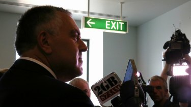 Treasurer Joe Hockey takes questions from the media on Wednesday.
