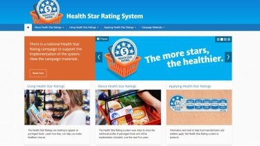 New: The Health Star Rating System website.