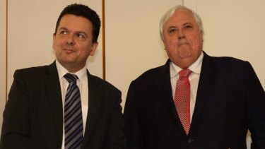 Questions for the AFP: Senator Nick Xenophon and Clive Palmer.
