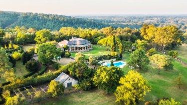 The historic Fernhill Estate homestead, Mulgoa Road, Mulgoa, NSW.