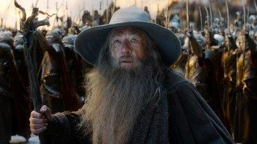 Ian McKellen as Gandalf in 'The Hobbit: The Battle of the Five Armies'.