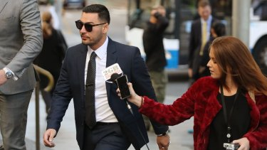Salim Mehajer  arrives at the Downing Centre Local Court on Wednesday.