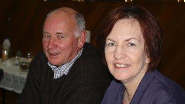 Gloucester mayor John Rosenbaum with NSW chief scientist Mary O'Kane.