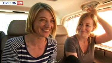 Tara Brown and Sally Faulkner after their release from a Beirut jail.